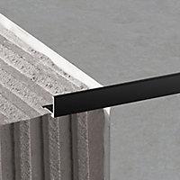 Diall Black 8mm Straight Aluminium Tile trim