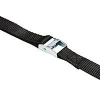 Diall Black Cambuckle tie down strap (L)2.5m