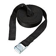 Diall Black Cambuckle tie down strap (L)5m