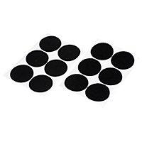 Diall Black Decorative Hook & loop Tape (L)0.05m (W)46mm, Pack of 6