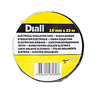 Diall Black Electrical Tape (L)33m (W)19mm