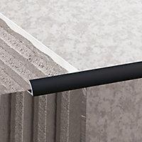 Diall Black PVC Round Tiling trim, 9mm