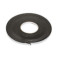 Diall Black Self-adhesive Draught seal (L)6m