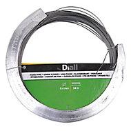 Diall Black Steel Piano wire, (L)34m (Dia)0.6mm