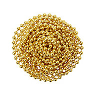 Diall Brass-plated Brass Bead Chain, (L)2.5 (Dia)2mm