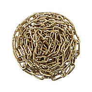 Diall Brass-plated Brass Welded Signalling Chain, (L)2.5 (Dia)2mm