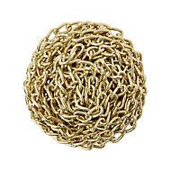 Diall Brass-plated Steel Twist Signalling Chain, (L)2.5 (Dia)2mm