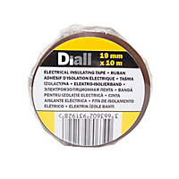 Diall Brown Electrical Tape (L)10m (W)19mm