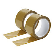 Diall Brown Packing Tape (L)50m (W)50mm, Pack of 2