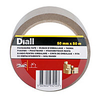 Diall Brown Packing Tape (L)50m (W)50mm