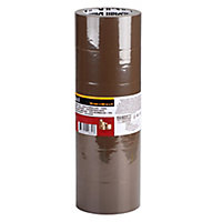 Diall Brown Packing Tape (L)66m (W)50mm, Pack of 6
