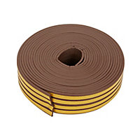 Diall Brown Self-adhesive Draught seal (L)24m (W)9mm (T)4mm