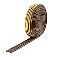 Diall Brown Self-adhesive Draught seal (L)24m (W)9mm (T)5mm