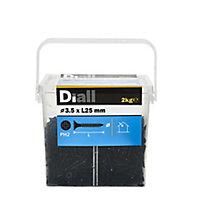 Diall Carbon steel Fine Plasterboard screw (Dia)3.5mm (L)25mm, Pack
