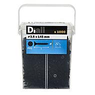 Diall Carbon steel Plasterboard screw (Dia)3.5mm (L)45mm, Pack