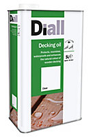 Diall Clear Decking Wood oil, 5L