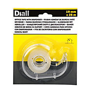 Diall Clear Office Tape (L)25m (W)19mm