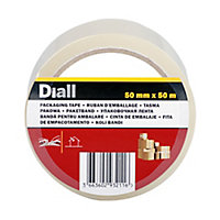 Diall Clear Packing Tape (L)50m (W)50mm