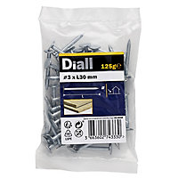 Diall Clout nail (L)30mm (Dia)3mm, Pack