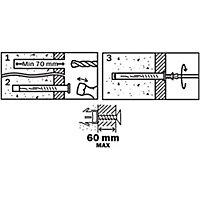 Diall Countersunk Frame fixing (L)120mm (Dia)10mm, Pack of 6