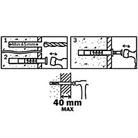 Diall Countersunk Hammer fixing (L)80mm (Dia)8mm, Pack of 10