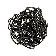 Diall Decorative Black Steel Signalling Chain, (L)1.5 (Dia)2.8mm