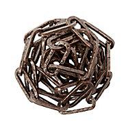 Diall Decorative Bronze effect Steel Signalling Chain, (L)1.5 (Dia)4mm