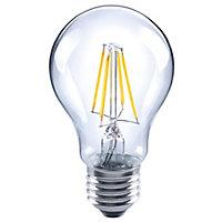 Diall E27 4W 470lm GLS LED filament Light bulb, Pack of 3