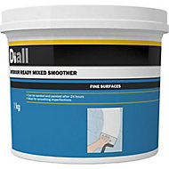 Diall Fine Finish Ready mixed Finishing plaster, 1kg Tub