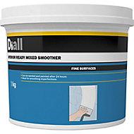 Diall Fine finish Ready mixed Finishing plaster, 1kg Tub