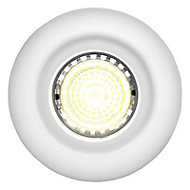 Diall Gloss White Non-adjustable LED Fire-rated Warm white Downlight 5W IP65