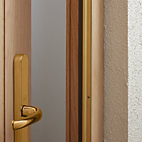 Diall Gold Gold effect PVC Draught excluder, (L)1.05m