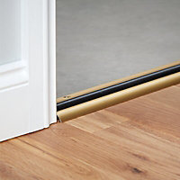Diall Gold Gold effect PVC Threshold door seal, (L)0.91m