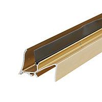 Diall Gold Gold effect PVC Threshold & rain deflector, (L)0.91m
