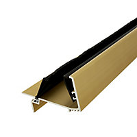 Diall Gold Gold effect PVC Two part threshold door seal, (L)0.91m