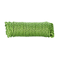 Diall Green Polypropylene (PP) Twisted rope, (L)25m (Dia)8mm