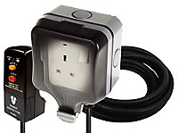 Diall Grey 13A Switched Socket