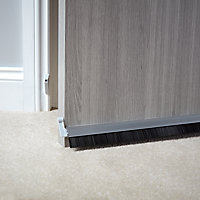 Diall Grey Aluminium Draught excluder, (L)1m