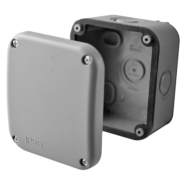 Diall Grey Junction Box 85mm Diy At B Q, How To Remove Outdoor Junction Box