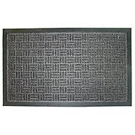 Diall Grey Polypropylene Door mat (L)0.9m (W)0.6m
