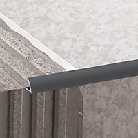 Diall Grey PVC Round Tiling trim, 9mm