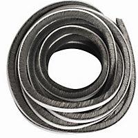 Diall Grey Self-adhesive Draught seal (L)6m