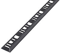 Diall Gun metal 12.5mm T-shaped Aluminium Tile trim