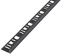 "Diall Gun metal Aluminium ""T"" shape Tiling trim"