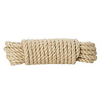 Diall Jute Twisted rope, (L)10m (Dia)14mm