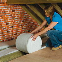 Diall Loft insulation roll, (L)8m (W)0.37m (T)100mm