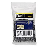 Diall Lost head nail (L)25mm (Dia)1.25mm 125g, Pack