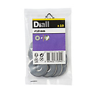Diall M10 Stainless steel Large Flat Washer, Pack of 10