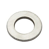 Diall M12 Stainless steel Medium Flat Washer, Pack of 10