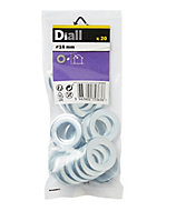 Diall M16 Carbon steel Flat Washer, Pack of 20